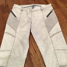 Pierre Balmain moto washed denim jeans Light wash (almost grey) Balmain  jeans with motto 1133b878676d