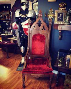 Antique Masonic Throne Chair