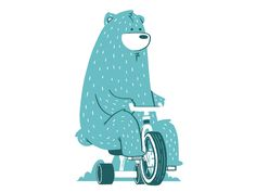 Bear on tricycle