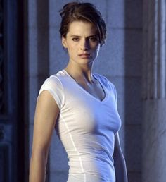Stana Katic - unlike many it's very appealing to see a woman who is confident about her figure and finds absolutely no need for a boob job. Smart and beautiful.