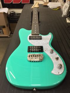 G&L Musical Instruments Here's a Fallout in Belair Green, rosewood board, Light Tint Gloss neck finish.