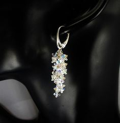 Piękne długie kolczyki z oryginalnych kryształów Swarovskiego. Długość kolczyków: ok. 50-55