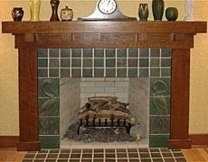 Craftsman fireplace surround and mantle.