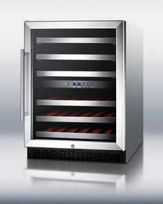 SWC530LBISTCSSADA 24 ADA Compliant Freestanding or Built-In Dual Zone Wine Cooler with 46 Bottle Capacity Automatic Defrost Factory Installed Lock and Glass Door with Stainless Steel Trim