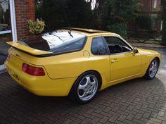 Yellow Porsche 968