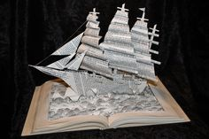 Yacht Book Sculpture by wetcanvas.deviantart.com on @deviantART