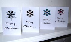 Handmade Black and white Snowflake design Merry Christmas Card Pack of 4 by HomeandaFarr on Etsy Christmas Card Packs, Merry Christmas Card, Christmas 2016, White Snowflake, Snowflakes, Santa North Pole, Snowflake Designs, Santa Letter, Arts And Crafts