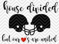 House Divided But Our Hearts Are United Football Season Fall SVG file - Cut File - Cricut projects - cricut ideas - cricut explore - silhouette cameo projects - Silhouette projects by KristinAmandaDesigns by agnes