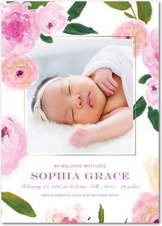The birth of a beautiful baby girl is a blessing, and it's a milestone that deserves to be celebrated in a one-of-a-kind way. Introduce the precious new arrival to your loved ones with girl birth announcements from Tiny Prints. Baby Girl Birth Announcement, Announcement Cards, Birth Announcements, Tiny Prints, Beautiful Baby Girl, Baby Birth, Custom Cards, Baby Decor, Bebe