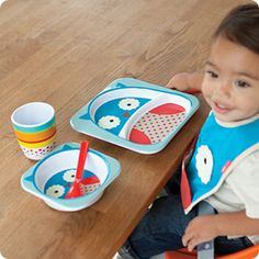 Zoo Tabletop by Skiphop: I bet Baby Nora would love this owl tableware. Made of melamine. Bowl and cup are $4 each. Plate is $6.