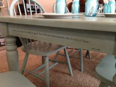 Looks like it's finished in French Linen...scripture on the apron is a cute touch.