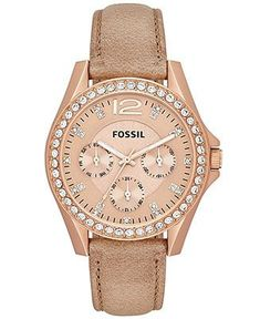 8b15bcf5bb8 or this one: Fossil Watch, Women's Riley Tan Leather Strap - Watches -  Jewelry & Watches - Macy's