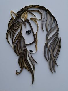 One of a Kind Quilled Horse 11x14