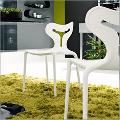 Modern Stackable Chair Design for Outdoor and Indoor Furniture, Area 51 Chair by Calligaris.