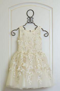 Zoe LTD Butterfly Dress in White Girls Special Occasion Dresses, Butterfly Dress, Beautiful Dresses, White Dress, Flower Girl Dresses, Ivory, Wedding Dresses, Fashion, Bride Dresses