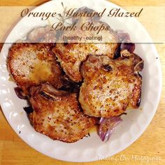 Orange-Mustard Glazed Pork Chops {healthy eating} | Taking On Magazines | www.takingonmagazines.com