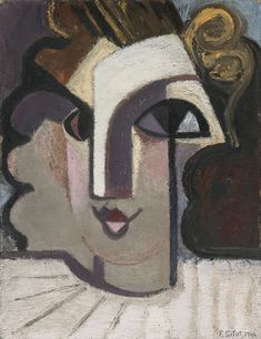 Francoise Gilot (French, b. Portrait of Genevieve Blanc , 1944 oil on canvas , x cm Francoise Gilot, Modern Art, Contemporary Art, Abstract Portrait, Portraits, French Artists, Art World, Art Day, Oil On Canvas