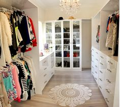 Larissa) just finished setting up my closet and in packing clothes. Now for the rest of my new room Closet Bedroom, Dream Bedroom, Master Bedroom, Master Closet, Wardrobe Room, White Wardrobe, Home Interior, Interior Design, Beautiful Closets