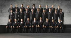 Elenco do Bayern de Munique veste ternos da Armani em campanha