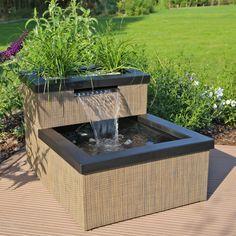 Mini Teich Wasserfall Set MTWS1. Gartenzaun Holz Gartengestaltung Beispiele  Dekorativ Wasserspiel Garten ...
