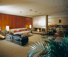 Residence in Filothei, Athens Mid-century Interior, Interior Design, Arch House, Weekend House, House Restaurant, Living Room Flooring, Smart Design, Modern Houses, Mid Century Modern Design