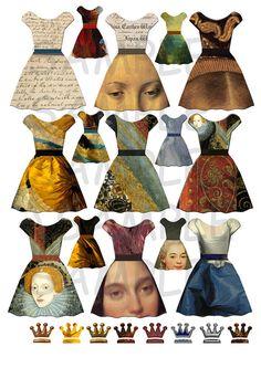 Instant download of 5 Collage Sheets PNG FILES 197 door liquidpoppy