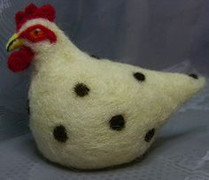White spotty egg cosy (The Big Sister) Tags: uk brown white wool felt hen fibre needlefelt eggcosy fffriends hafteam