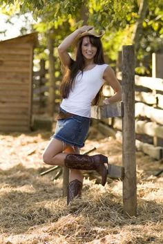 Hot Skirts and Cowboy Boots | belt shoes bedroom oooo mini skirt cowboy boots