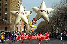 Macy's Day Parade in NYC on Thanksgiving Day from a hotel room