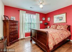 Red Paint in Bedroom