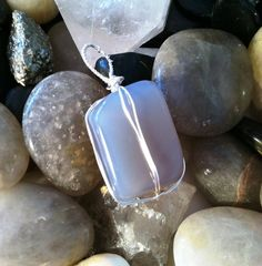 Moonstone Wire Wrapped Pendant by TripIntoLight on Etsy, $25.00