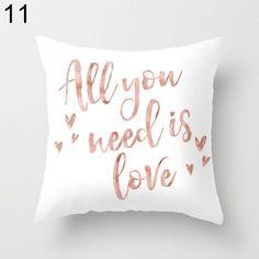 2017 Floral Letter Animal Printed Pillow Case Sofa Car Waist Cushion Cover Home Decor