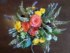 love the height in this bouquet! so beautiful!