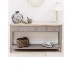 Florence Dove Grey Painted Console Table