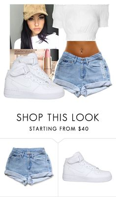 """""""Madison Beer inspired outfit"""" by itsteresa ❤ liked on Polyvore featuring NIKE and Glamorous"""