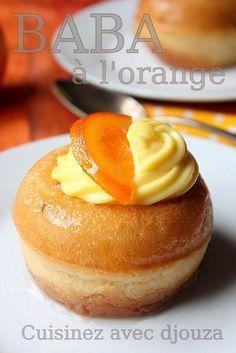 Orange baba without rum - postres individuales Mug Dessert Recipes, Healthy Mug Recipes, Mug Cake Healthy, Baking Recipes, Cake Recipes, Diabetic Desserts, Mini Desserts, Plated Desserts, Easy Desserts