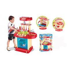 Music Portable Compact Kitchen Play Set