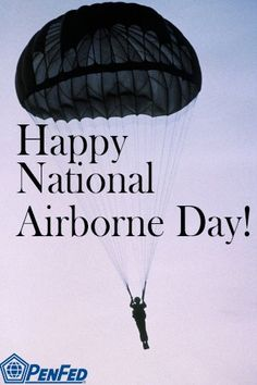 Happy National Airborne Day - August 16th  #army #military #parachute