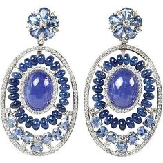 Pre-owned Bold Tanzanite Sapphire Gold Earrings (46.110 BRL) ❤ liked on Polyvore featuring jewelry, earrings, more earrings, earring jewelry, blue sapphire earrings, fine jewellery, sapphire earrings and 18k yellow gold earrings