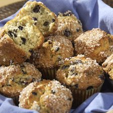 Yummy blueberry muffins (I subbed 1/2 the white flour for white wheat). Turned out great!