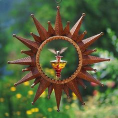 Sunburst hummingbird feeder