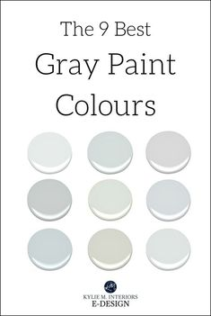 The best benjamin moore gray and greige paint colours. Kylie M interiors E-design, online paint colour consultant