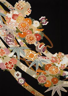 All Japanese, Japanese Flowers, Chinese Patterns, Japanese Patterns, Japanese Textiles, Japanese Fabric, Wall Patterns, Print Patterns, Fabric Print Design