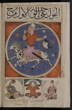 Aries - Islamic astrology, Book of Wonders, Kitab al Bulhan, composite manuscript in Arabic, late 14th century A.D.  Abd al-Hasan Al-Isfahani, Bodleian Library