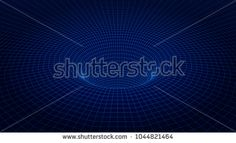 3d wireframe tunnel. Futuristic background. Cyber technology. Vector illustration.