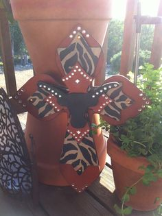 Large Longhorn Wood Cross by SignsBYDebbieHess on Etsy, $38.00