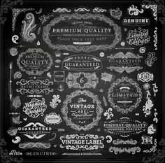 ChalkElements - Elements 5 Vintage ornaments covers for labels and frame vector 05 - Vector Frames & Borders free download
