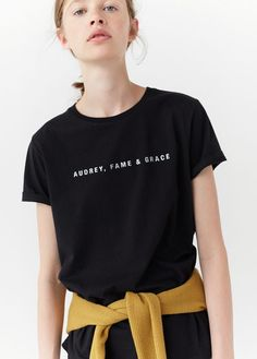 T-shirt coton message - Femme T Shirt Citations, Buy T Shirts Online, Message T Shirts, Simple Summer Outfits, Simple Shirts, T Shirts For Women, Clothes For Women, T Shirts With Sayings, Aesthetic Clothes
