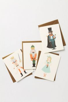 Nutcracker Nostalgia Cards  by rifle paper at anthropologie