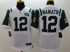 Nike New York Jets #12 Joe Namath White Elite Jersey